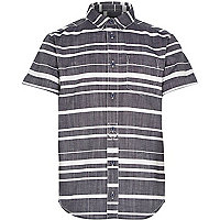 Boys blue stripe shirt