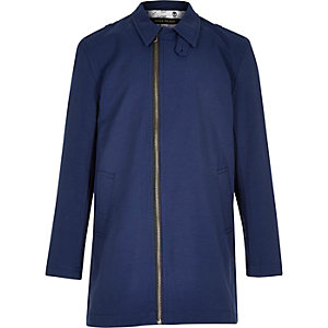 Boys navy blue mac coat