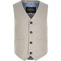 Boys ecru smart suit waistcoat