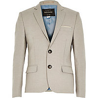 Boys ecru smart suit jacket