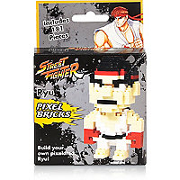 Boys street fighter ryu pixel brick builder