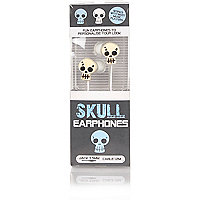 Boys white skull headphones