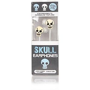 Boys white skull headphones