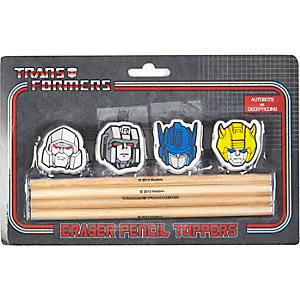 Boys transformer pencil and eraser set