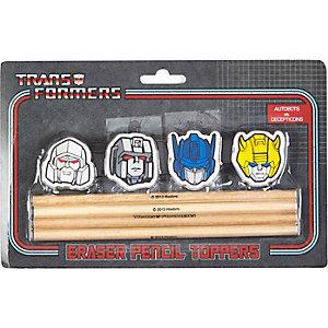 Boys transformer pencil and eraser set