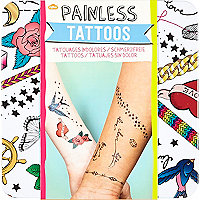 Kids white painless tattoos