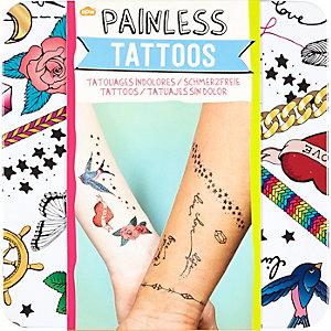 Kids white painless tattoos