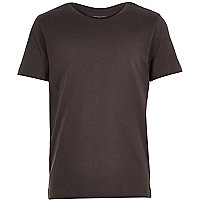 Boys plain black short sleeve t-shirt