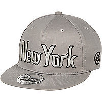 Boys grey New York cap