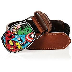 Boys brown Marvel print belt