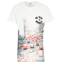Boys Brooklyn city print t-shirt