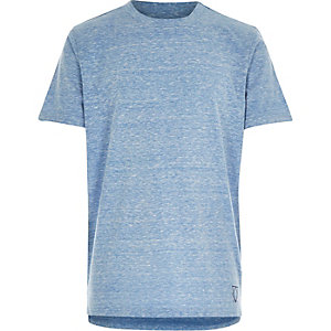 Boys blue burnout stepped hem t-shirt