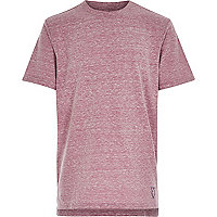 Boys purple burnout stepped hem t-shirt