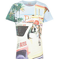 Boys white beach patrol short sleeve t-shirt