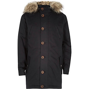 Boys navy parka coat
