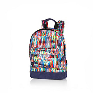 Boys navy Mipack pens backpack