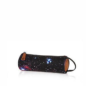 Kids navy Mipac star print pencil case