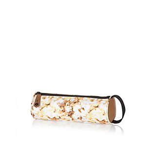 Boys white Mipac popcorn print pencil case