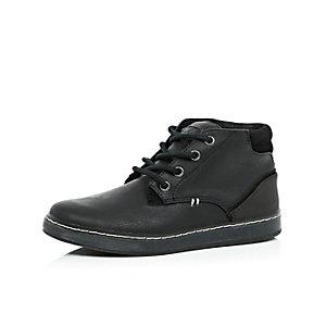 Boys black demi lace-up boots