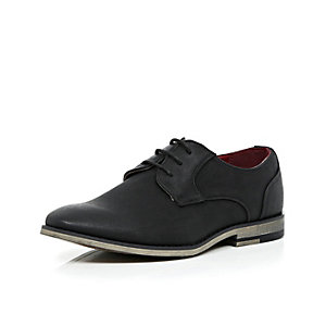Boys black smart shoes