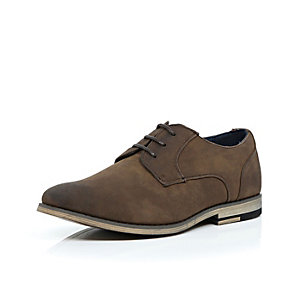 Boys brown smart shoes