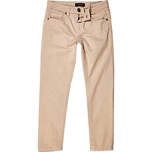 Boys ecru Dean straight jeans