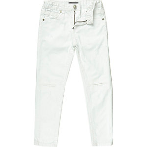 Boys white Dean straight jeans