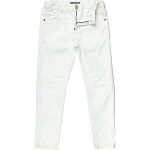 Boys white Dean straight jeans