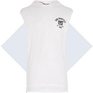 Boys white sleeveless San Fran tank top