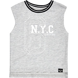 Mini boys grey NYC tank top