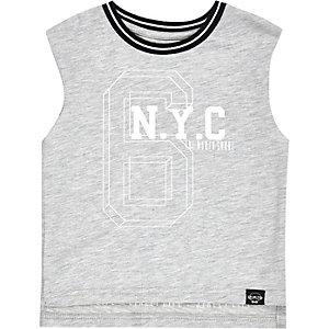 Mini boys grey NYC tank top