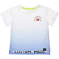 Mini boys blue dip dye t-shirt