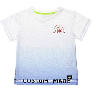 Mini boys blue dip dye t-shirt