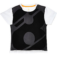 Mini boys white 8 print t-shirt
