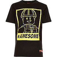Boys black Lego print t-shirt