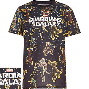 Boys black Guardians of the Galaxy t-shirt