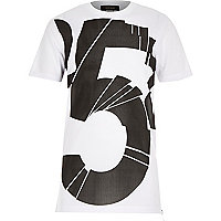 Boys white mesh longer length t-shirt