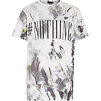 Boys grey nothing print t-shirt
