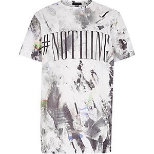 Boys grey nothing print t-shirt