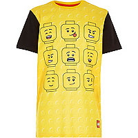 Boys yellow Lego multi face t-shirt