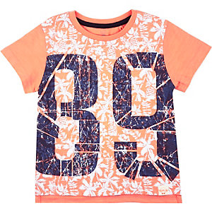Mini boys orange 89 t-shirt