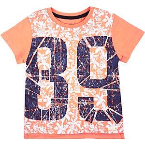 Mini boys orange 89 t-shirt