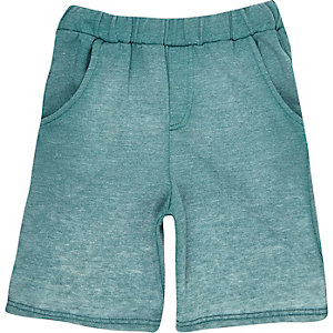 Boys blue burn out jersey shorts