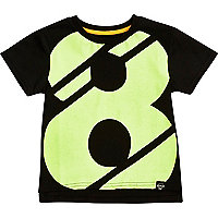 Mini boys 8 print t-shirt