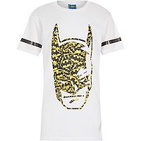 Boys white longer length Batman t-shirt