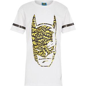 Boys white longer length Batman t-shirt