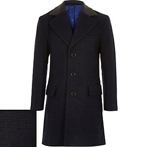 Boys navy blue overcoat