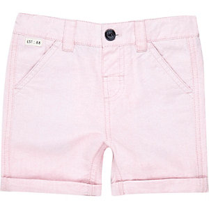 Mini boys pink Oxford shorts