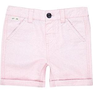 Mini boys pink Oxford shorts