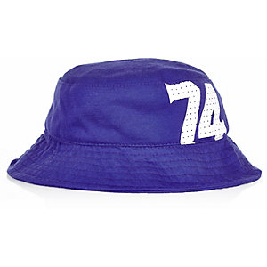 Mini boys blue 74 bucket hat